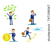 lifestyle of successful... | Shutterstock . vector #747198367