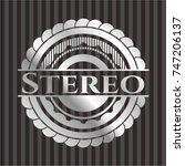 stereo silver emblem   Shutterstock .eps vector #747206137