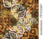 seamless pattern ethnic design. ... | Shutterstock . vector #747213367