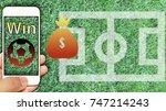 smartphone show status of... | Shutterstock . vector #747214243