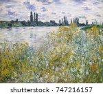 ile aux fleurs near vetheuil ... | Shutterstock . vector #747216157