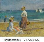 figures on the beach  by... | Shutterstock . vector #747216427