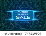 sale technology banner for... | Shutterstock .eps vector #747219907