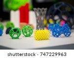 many abstract models bright... | Shutterstock . vector #747229963