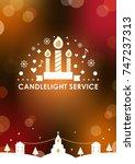 christmas eve candlelight... | Shutterstock .eps vector #747237313