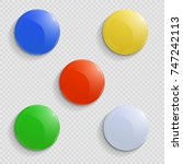colored round magnets on a...   Shutterstock .eps vector #747242113