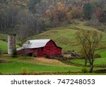 Farmstead With Rustic Old Red...
