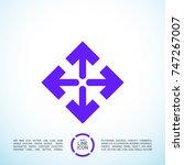 directions minimal icon. arrows ...   Shutterstock .eps vector #747267007