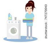 cartoon flat illustration  ... | Shutterstock .eps vector #747270043