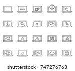 set of laptop related vector...   Shutterstock .eps vector #747276763