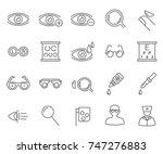 set of optometry related vector ... | Shutterstock .eps vector #747276883