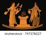 ancient greek goddess aphrodite ... | Shutterstock .eps vector #747278227