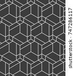 vector seamless pattern. modern ... | Shutterstock .eps vector #747286117