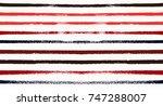 seamless vector sailor stripes... | Shutterstock .eps vector #747288007