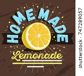 homemade lemonade design with... | Shutterstock .eps vector #747289057