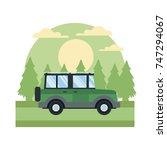 vehicle in highway | Shutterstock .eps vector #747294067