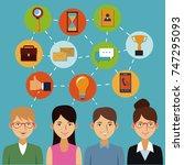 social network icons   Shutterstock .eps vector #747295093