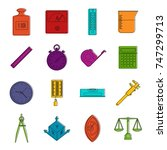 measure precision icons set.... | Shutterstock .eps vector #747299713