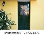 traditional door in nafplion ... | Shutterstock . vector #747321373