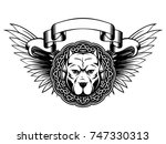 abstract vector illustration... | Shutterstock .eps vector #747330313