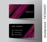 modern business card template...   Shutterstock .eps vector #747354457