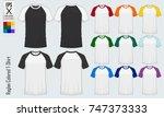 baseball t shirt. raglan round... | Shutterstock .eps vector #747373333