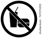 no food or drinks sign black... | Shutterstock .eps vector #747374203