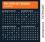 big icon set vector | Shutterstock .eps vector #747391087