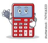 doctor cute calculator...   Shutterstock .eps vector #747416323