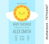 cute baby shower boy invite... | Shutterstock .eps vector #747416467