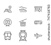 transportation line icon... | Shutterstock .eps vector #747418783
