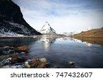 panorama view of matterhorn as... | Shutterstock . vector #747432607