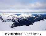 alps  view from mt. titlis in... | Shutterstock . vector #747440443