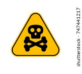 poison sign vector icon | Shutterstock .eps vector #747441217