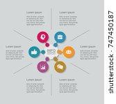 vector infographic template for ... | Shutterstock .eps vector #747450187