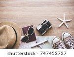 tourist travel planning concept ... | Shutterstock . vector #747453727