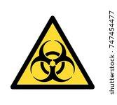 standard pictogam of biological ... | Shutterstock .eps vector #747454477