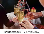 christmas or new year... | Shutterstock . vector #747460267