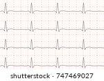 cardiogram of heart beat. ecg... | Shutterstock .eps vector #747469027