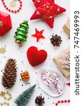 christmas background with... | Shutterstock . vector #747469993