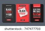 black friday sale design... | Shutterstock .eps vector #747477703