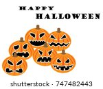 set of pumpkins for halloween | Shutterstock .eps vector #747482443