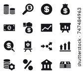 16 vector icon set   coin stack ... | Shutterstock .eps vector #747484963