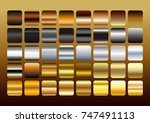 gold silver and copper metal... | Shutterstock .eps vector #747491113