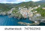 aerial view of riomaggiore ... | Shutterstock . vector #747502543