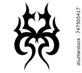 tattoo tribal vector design.... | Shutterstock .eps vector #747505417