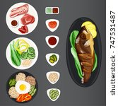 vector set of appetizing korean ... | Shutterstock .eps vector #747531487