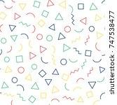 memphis seamless geometric... | Shutterstock .eps vector #747538477