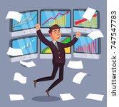 professional trader. online... | Shutterstock . vector #747547783
