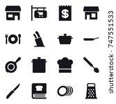 16 vector icon set   shop  shop ...   Shutterstock .eps vector #747551533